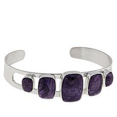 Jay King Sterling Silver Cushion-Cut Charoite Cuff