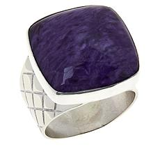 Jay King Sterling Silver Cushion-Cut Gemstone Ring