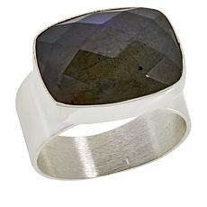 Jay King Sterling Silver Cushion-Shaped Labradorite Ring