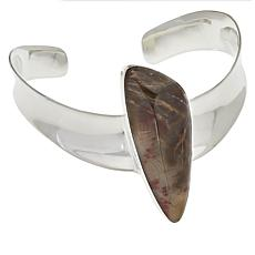 Jay King Sterling Silver Devil's Gate Juniper Wood Cuff Bracelet