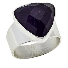 Jay King Sterling Silver Faceted Freeform Gemstone Ring