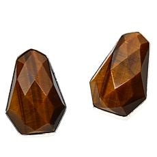 Jay King Sterling Silver Faceted Tiger's Eye Earrings
