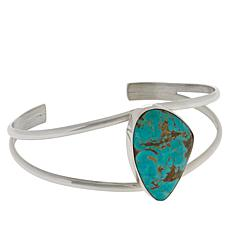 Jay King Sterling Silver Freeform Tyrone Turquoise Cuff Bracelet