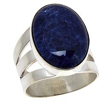 Jay King Sterling Silver Gemstone Oval Ring