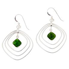 Jay King Sterling Silver Green Chrome Diopside Drop Earrings