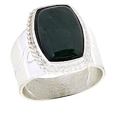 Jay King Sterling Silver Green Nephrite Jade Ring
