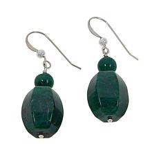Jay King Sterling Silver Green Quartz Bead Drop Earrings