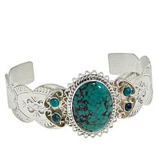 Jay King Sterling Silver Hubei Turquoise Multi-Stone Cuff Bracelet