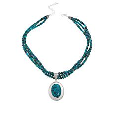 Jay King Sterling Silver Hubei Turquoise Pendant with Necklace
