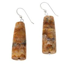 Jay King Sterling Silver Java Lace Agate Drop Earrings