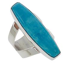 Jay King Sterling Silver Kingman Turquoise Elongated Ring