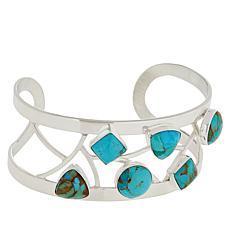 Jay King Sterling Silver Kingman Turquoise Open Cuff Bracelet