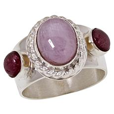 Jay King Sterling Silver Kunzite and Tourmaline Ring