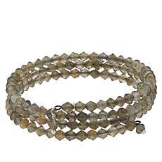 Jay King Sterling Silver Labradorite Bead Coil Wrap Bracelet