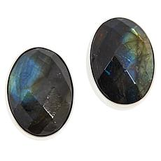 Jay King Sterling Silver Labradorite Oval Stud Earrings