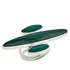 Jay King Sterling Silver Marquise Malachite Ring