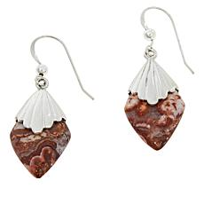 Jay King Sterling Silver Mexican Crazy Lace Agate Earrings