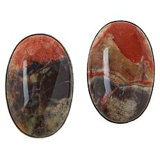 Jay King Sterling Silver Multi-Color Red Cinnabar Stone Earrings