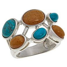 Jay King Sterling Silver Multi-Gemstone Oval Cluster Ring