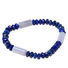 Jay King Sterling Silver Multi-Gemstone Stretch Bracelet