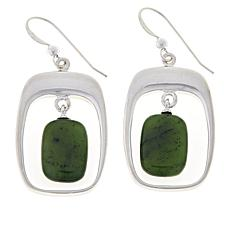 Jay King Sterling Silver Nephrite Jade Drop Earrings