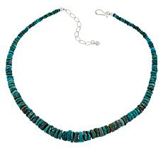 Jay King Sterling Silver New Red Skin Turquoise Bead Necklace