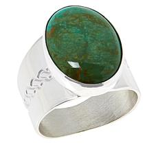 Jay King Sterling Silver No. 7 Yellow Turquoise Oval Ring