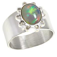 Jay King Sterling Silver Opal Sunburst Ring