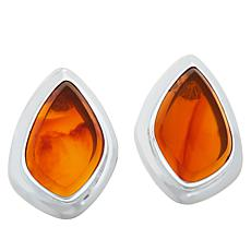 Jay King Sterling Silver Orange Opal Earrings