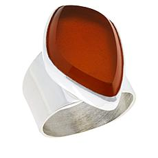 Jay King Sterling Silver Orange Opal Ring