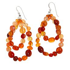 Jay King Sterling Silver Orange/Red Chalcedony Drop Earrings