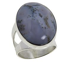 Jay King Sterling Silver Orbicular Chalcedony Oval Ring