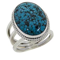 Jay King Sterling Silver Oval Hubei Turquoise Ring