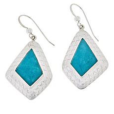 Jay King Sterling Silver Peruvian Amazonite Drop Earrings