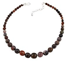 Jay King Sterling Silver Petrified Wood Necklace