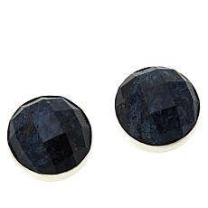 Jay King Sterling Silver Pietersite Button Earrings
