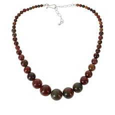 Jay King Sterling Silver Rainbow Jasper Beaded Necklace