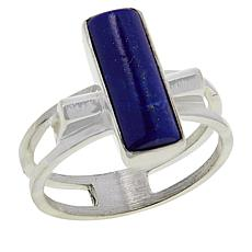 Jay King Sterling Silver Rectangular Lapis Ring