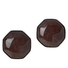 Jay King Sterling Silver Rose Taupe Quartzite Stud Earrings