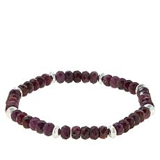 Jay King Sterling Silver Ruby Bead Stretch Bracelet