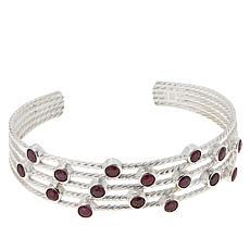 Jay King Sterling Silver Ruby Multi-Stone Cuff Bracelet
