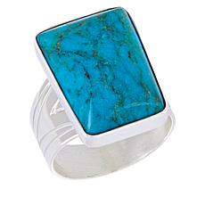 Jay King Sterling Silver Spider Mountain Turquoise Ring