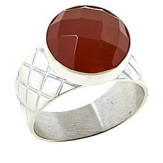 Jay King Sterling Silver Tangerine Chalcedony Ring