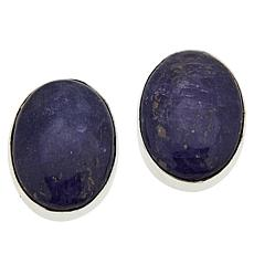 Jay King Sterling Silver Tanzanite Oval Stud Earrings