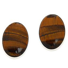 Jay King Sterling Silver Tiger's Eye Quartz Oval Earrings