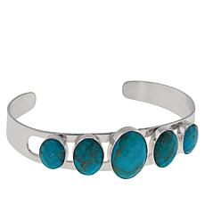 Jay King Sterling Silver Turquoise Oval Stone Cuff