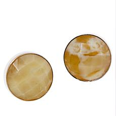 Jay King Sterling Silver Yellow Opal Stud Earrings