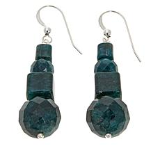Jay King Teal Apatite Sterling Silver Drop Earrings