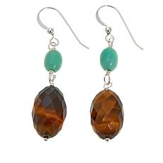 Jay King Tiger's Eye and Variscite Earrings