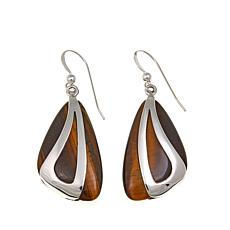 Jay King Tiger's Eye Drop Sterling Silver Earrings
